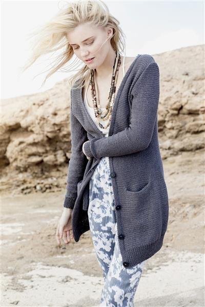 1505: Design 9 Lang jakke med lommer #Line #bomull #cotton #lin #linen