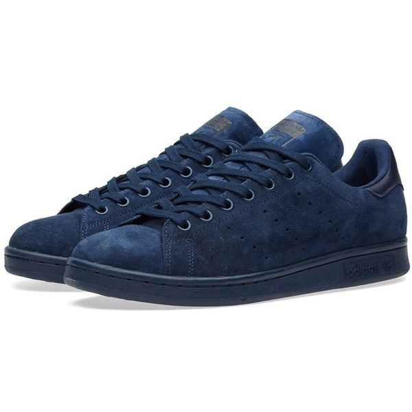 Adidas Stan Smith (800 EGP) ❤ liked on Polyvore featuring men's fashion, men's shoes, mens perforated shoes, mens tennis shoes and adidas mens shoes