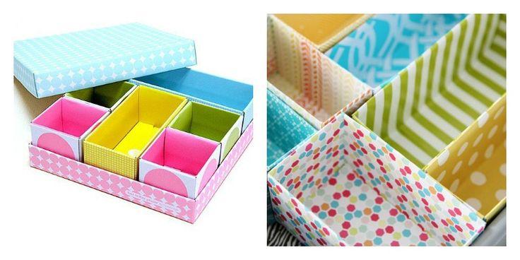 bricoler boîtes rangement papier séparateurs pas cher