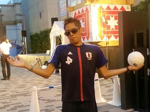 Tatsuya Nakagawa, the Keisuke Honda impersonator, doesn't look like him at all  LOL