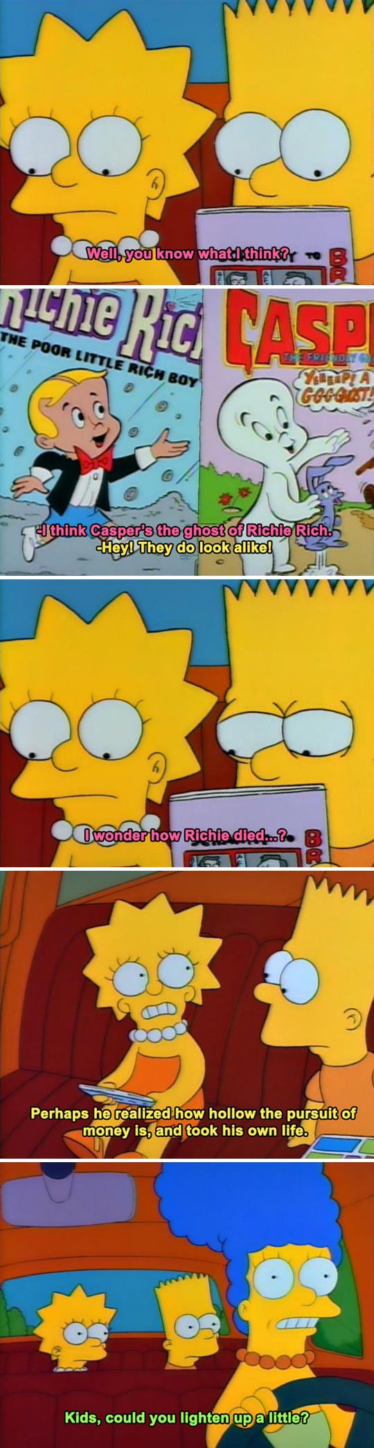 I miss when the Simpsons had stuff like this. now it seems really, I dunno, sanitized.