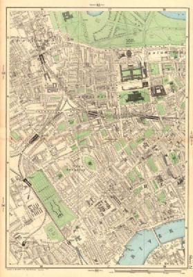South Kensington London Map.South Kensington West Brompton Chelsea Earls Court Fulham Broadway
