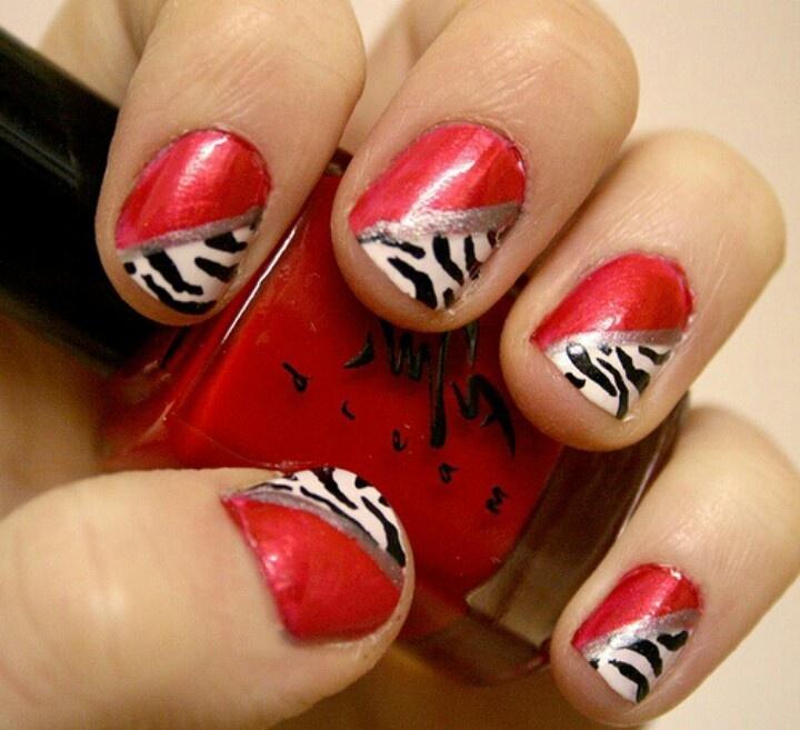 Zebra Nail Ideas: Zebra Nail Designs, Zebra Print