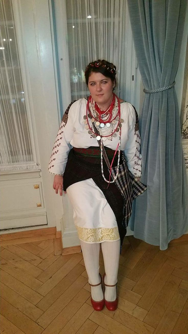 Folk costume from Radauti area, Romania