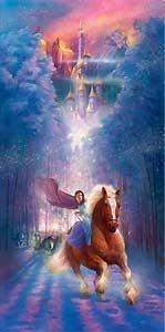 Beauty and the Beast - Belle's Search - John Rowe - World-Wide-Art.com - $525.00 #Disney #JohnRowe