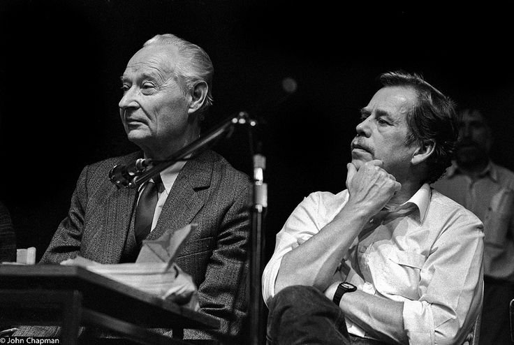 Alexander Dubcek and Vaclav Havel