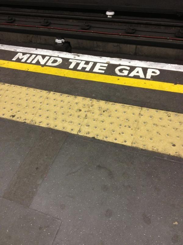 Mind the gap via @modernistms