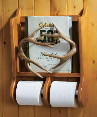 Cabela 39 s antler magazine and toilet paper holder toilets for Cabela s tackle craft catalog