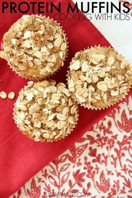 Banana Greek Yogurt Protein Muffins. These are great for lunchboxes,healthy snacks, and a filing breakfast idea, packed with protein and low sugar, these muffins are healthy and delicious!