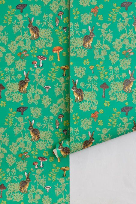 Mushroom Forest Wallpaper by Nathalie Lete
