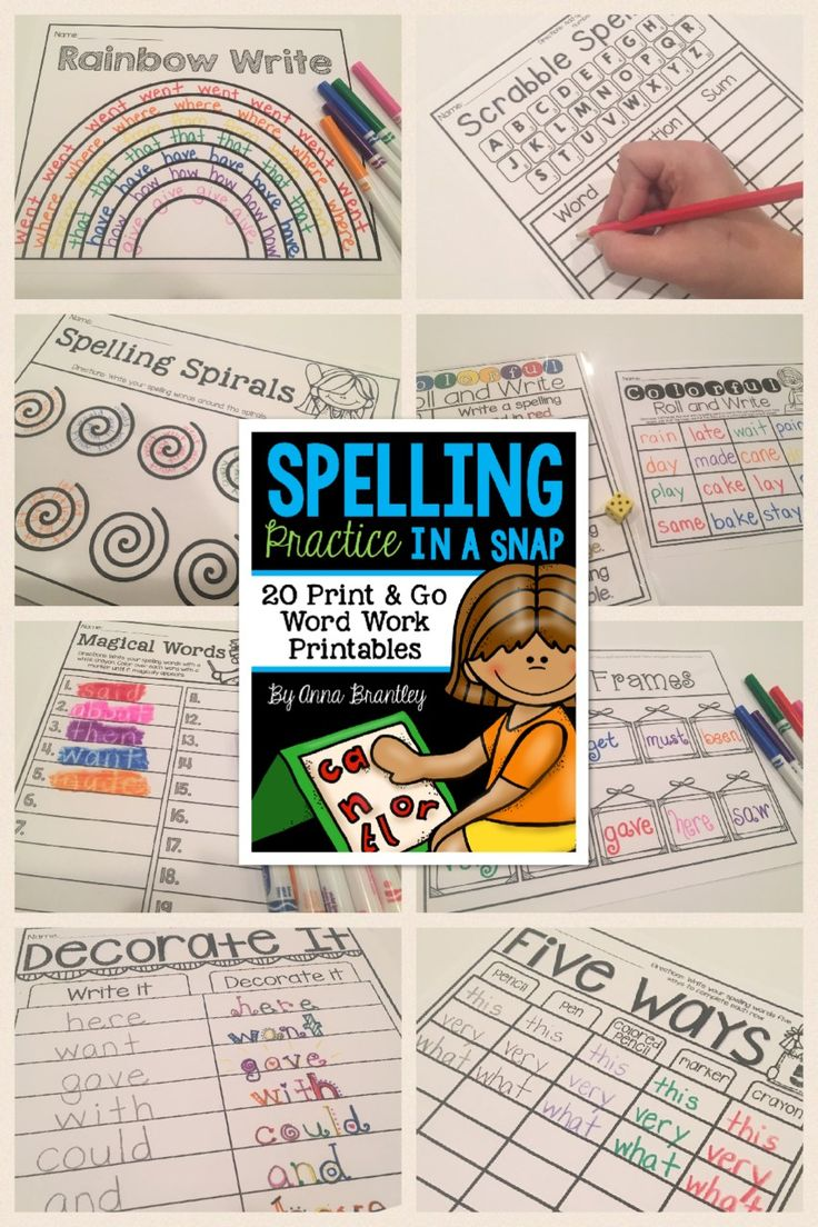 Looking for new word work activities? https://www.teacherspayteachers.com/Product/Spelling-Practice-in-a-Snap-1588407