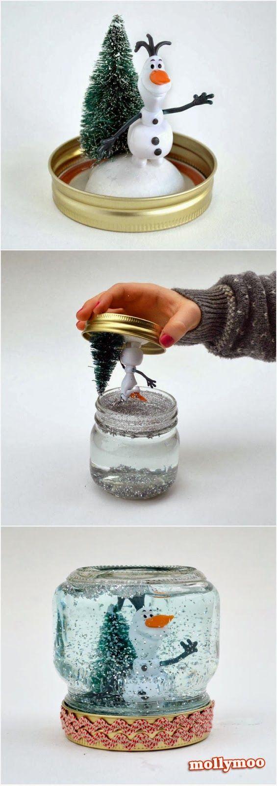 Christmas Crafts: How to Make A Snow Globe