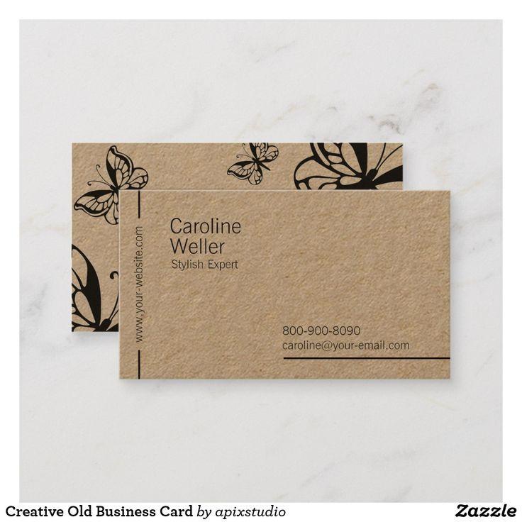 Creative Old Business Card Zazzle Com Business Card Design Creative Art Business Cards Fun Business Card Design