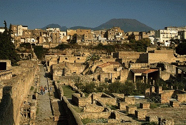 Herculeam, in Ercolano, Italy.... like Pompeii just better preserved