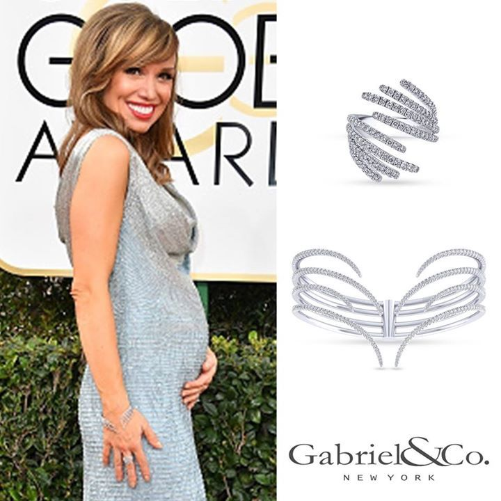 The adorable host of NBC News Live Sara Gore was spotted wearing our dazzling diamond pieces on the Golden Globes red carpet!  Click the link here: https://www.gabrielny.com/product/LR50657W45JJ https://www.gabrielny.com/product/BG3998W45JJ #Engagementring #weddingband #weddingjewelry #weddingring #diamondengagementring #925SterlingSilver #WhiteGold