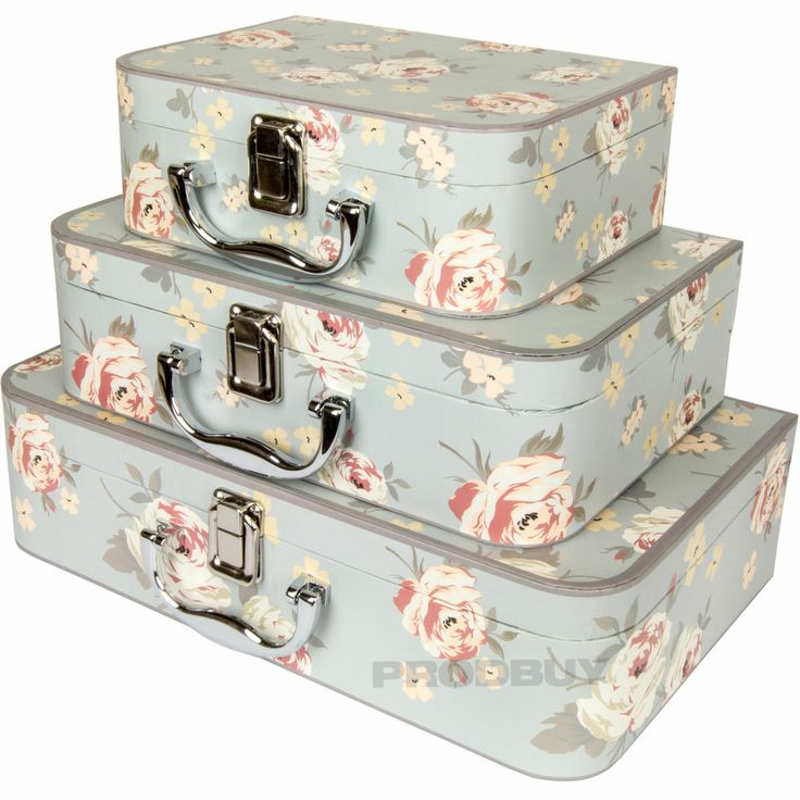 set of 3 card jennifer rose floral shabby chic storage boxes chests trunks cases shabby chic. Black Bedroom Furniture Sets. Home Design Ideas