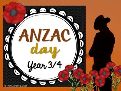 ANZAC Day - Year 3.4 from Paulas Place on TeachersNotebook.com -  (72 pages)  - ANZAC Day – Year 3/4  This is a huge part of our Australian and New Zealand shared history. It is a huge responsibility to make sure we engage our students in this recognition and commemoration of thi
