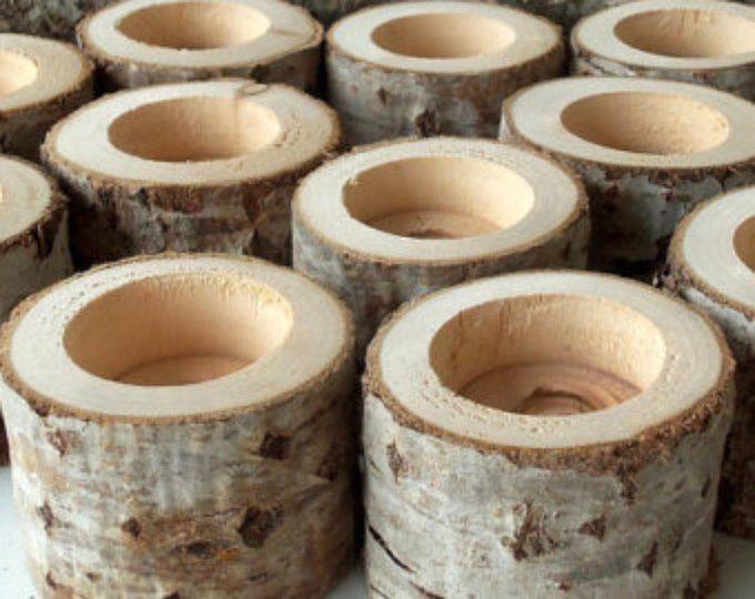 Nouveau - arbre branche bougeoirs - lot de 50 - bougeoirs en bois - colle pour bougies votives - Centre de table mariage - décoration de mariage