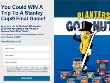 Planters Peanuts Ultimate Hockey Fan Sweepstakes
