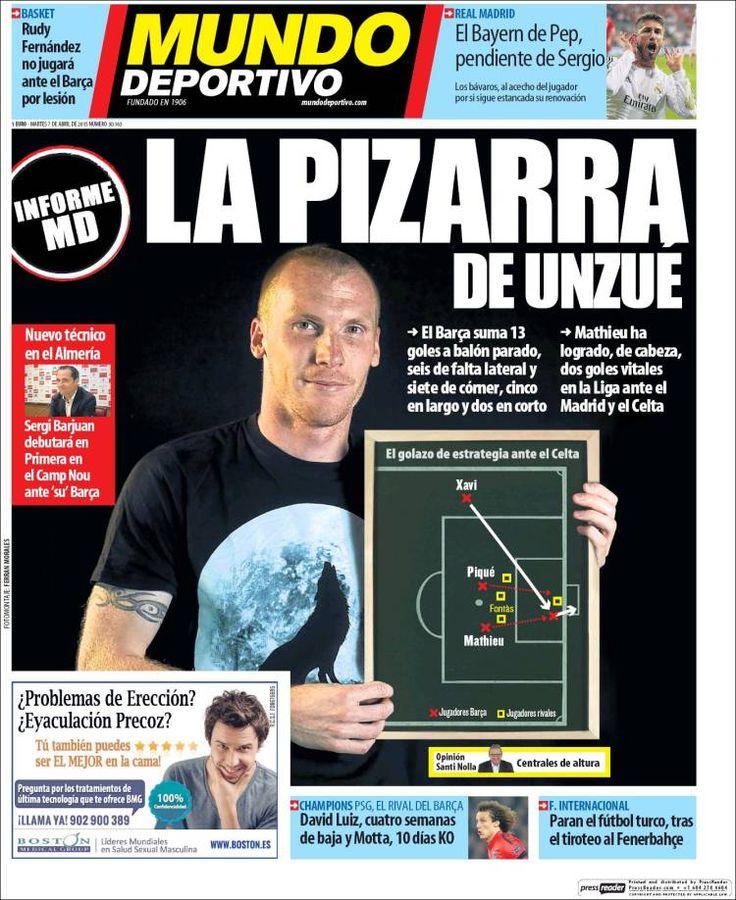 Portada Mundo Deportivo 7/04/2015