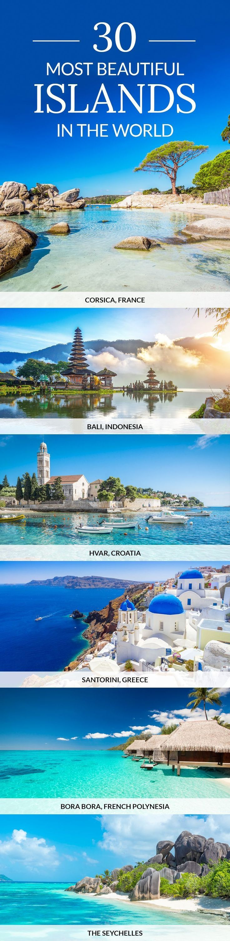 From Bali to Bora Bora, here are some of the most beautiful islands in the world. #TravelDestinationsUsaCheap #TravelDestinationsUsaBudget
