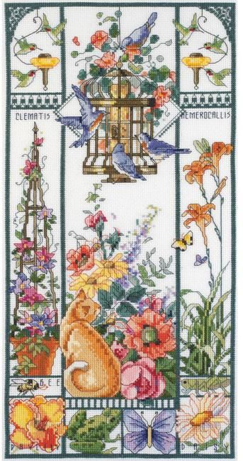 The Four Seasons - Cross Stitch Patterns & Kits (Page 2) PRETTY AMAZING DESIGN. I LIKE THIS ONE, SUMMER, BETTER THAN SPRING CAT SAMPLER.