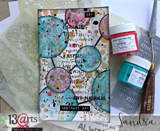 a mixed media card by Sandra Bernard for 13arts
