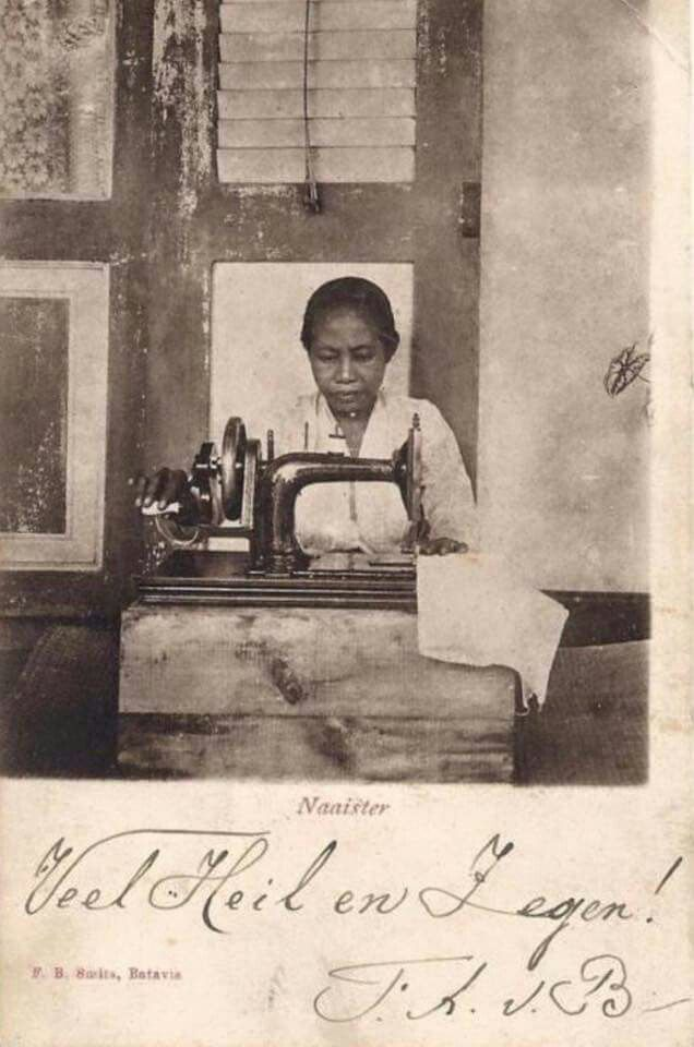 Potret seorang penjahit, Jawa