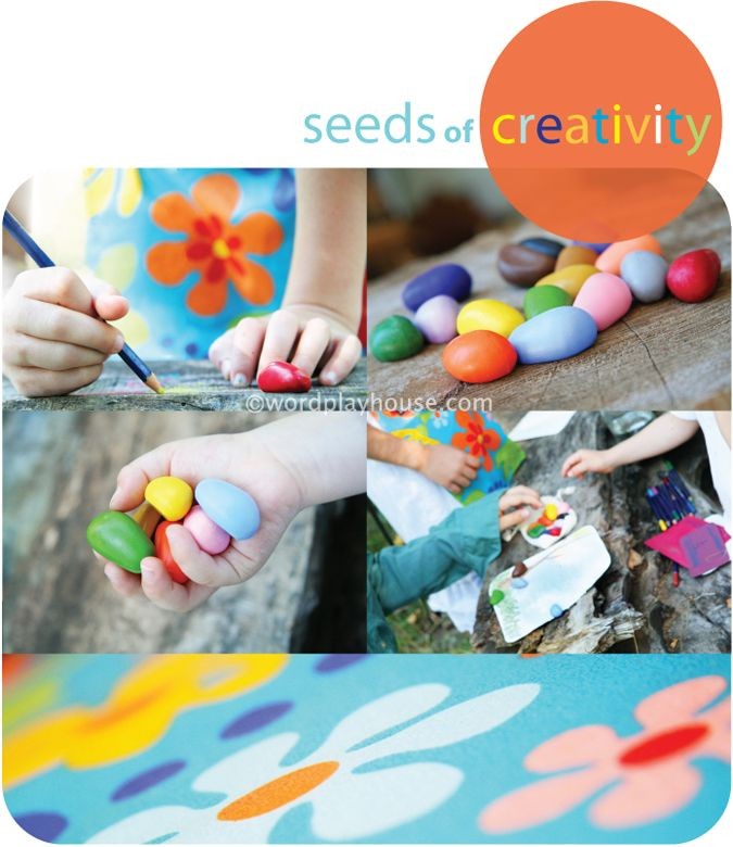Take creativity (and children's art messes) outdoors. Delightful outdoor art studio and eco art supply ideas for everyone.