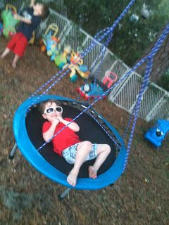 Trampo-swing, Tarzan swing & backyard play environment   Epic Childhood