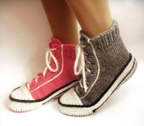 Knitting Pattern For Converse Socks : Best 25+ Crochet converse ideas on Pinterest Converse ...