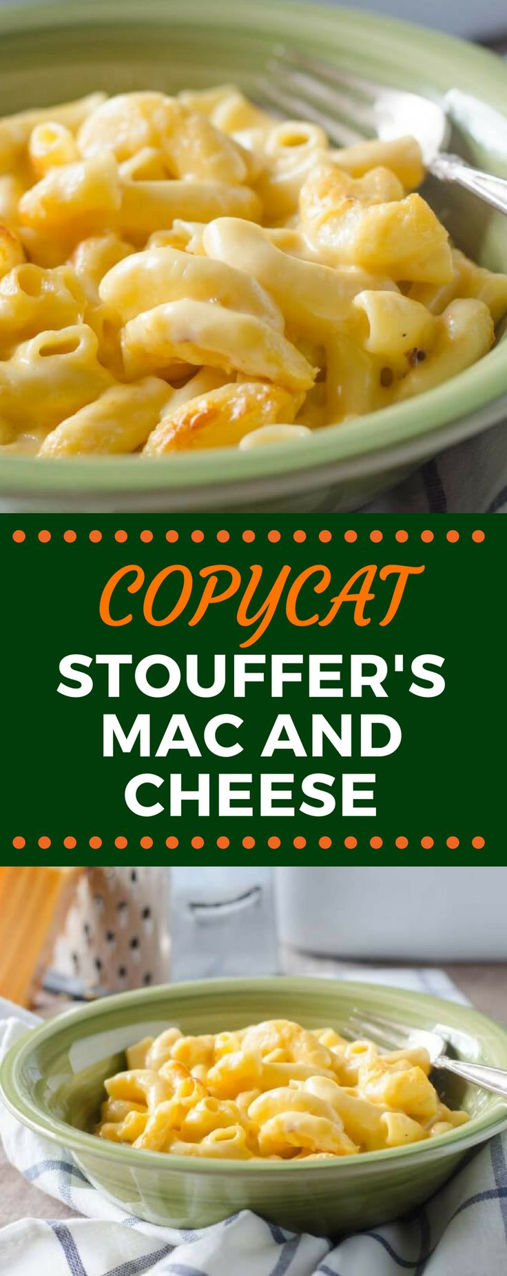 This Copycat Stouffer's Mac and Cheese recipe is the best comfort food hack! This creamy, cheesy dinner idea will leave you wanting more! #copycatrecipes #macandcheese #souffersmacandcheese #easydinnerrecipes
