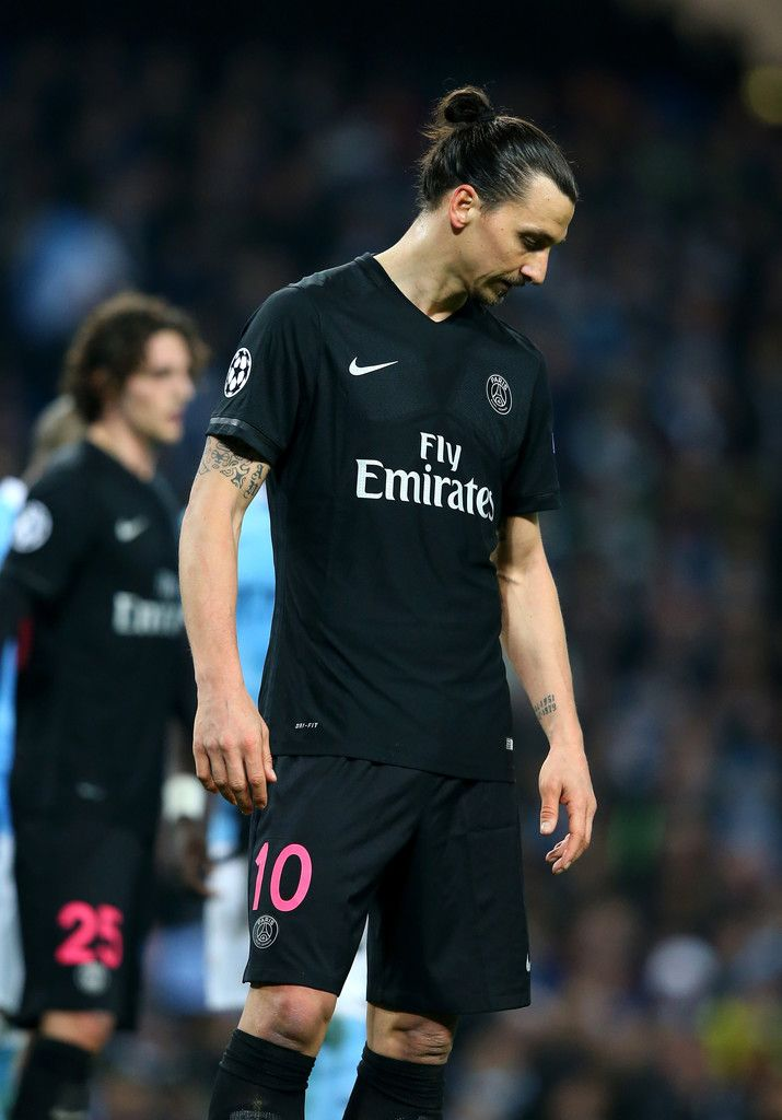 PSG knocked out in the quarters by Man City.