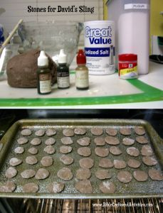 Recipe for DIY Stones for the Story of David and Goliath www.BibleCraftsandActivities.com