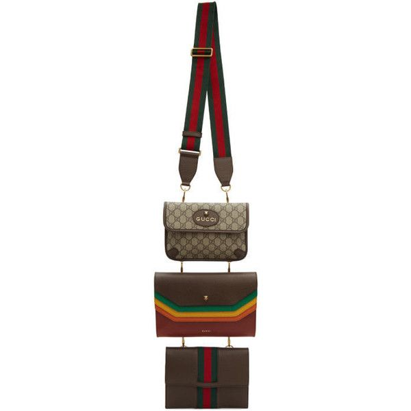 Gucci Three-Pack Multicolor Pouch Bags ($3,370) ❤ liked on Polyvore featuring men's fashion, men's bags, gucci mens bag and mens pouch bag