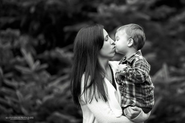 "Mother's Day portraits: Angela Justice is celebrating her first Mother's Day back in Portland as well as her first Mother's Day out of the U.S. Navy. ""She is an amazing mother and woman,"" says Portland-based photographer Shannon Hager."