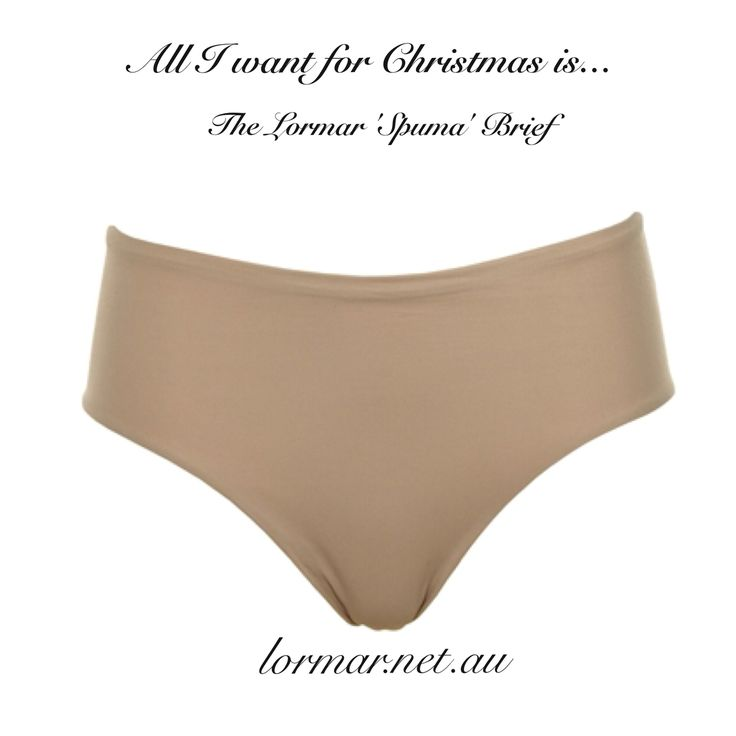 Me oh my! Only one more sleep till Christmas and all I want is the Lormar 'Spuma' Brief... A great stocking filler!