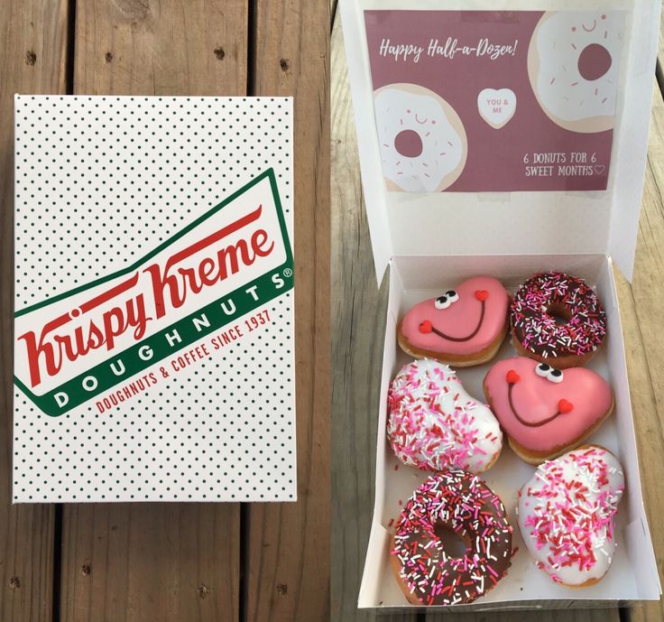 Happy half a dozen! 6 donuts for 6 sweet months #diy #6months #mine #valentines #vday #anniversary #cheesy