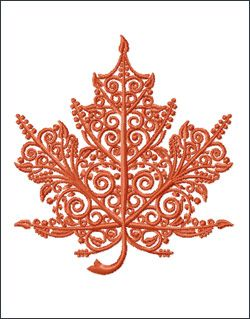 maple leaf embroidery