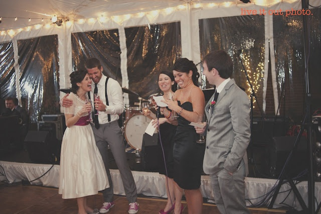 Tips & Advice on writing (and giving) a wedding toast! On the blog - including a real-life example of an AMAZING best man speech!