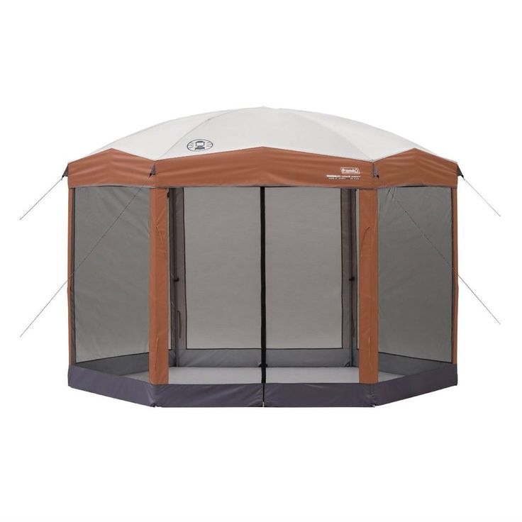 This Instant 12ft x 10Ft Hexagon Screened Canopy Gazebo with Removable Insect Screen provides an easy, convenient screened shelter in the backyard, at a campsit