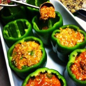 The Best Stuffed Green Pepper Recipe http://mylitter.com/recipes/the-best-stuffed-green-pepper-recipe/
