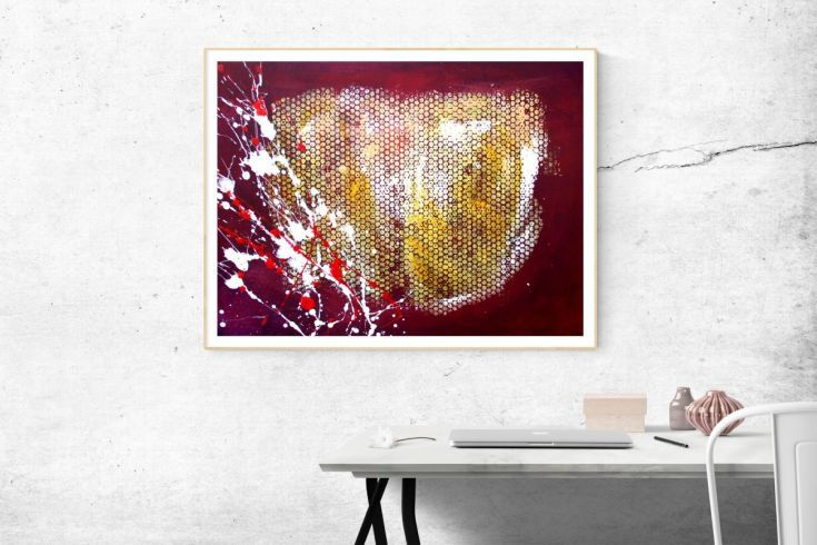 Buy ABSTRACT ART: Blured heart, Acrylic painting by Silvie Tripes on Artfinder. Discover thousands of other original paintings, prints, sculptures and photography from independent artists.
