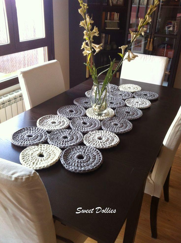 Las 25 mejores ideas sobre tapetes para mesa en pinterest for Caminos para mesas redondas