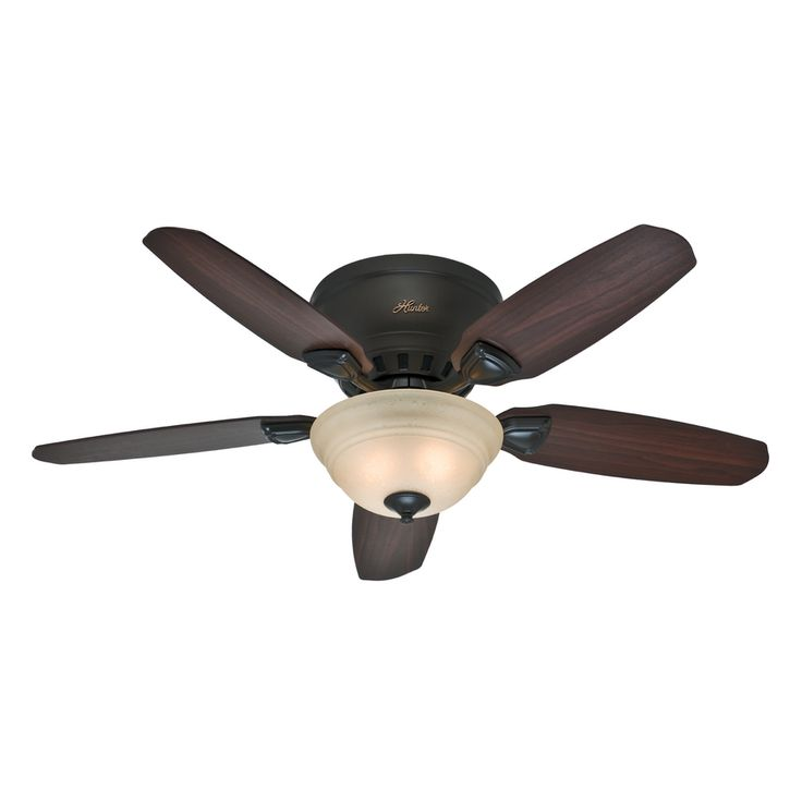 Hunter Louden 46-in Premier Bronze Flush Mount Indoor Residential Ceiling Fan…