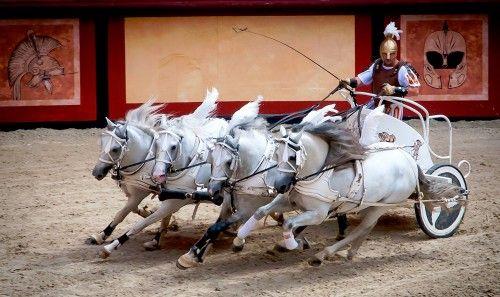 Roman chariot race.