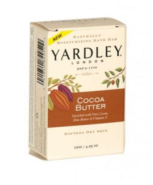 Yardley naturally moisturising bath soap bar 120g cocoa butter
