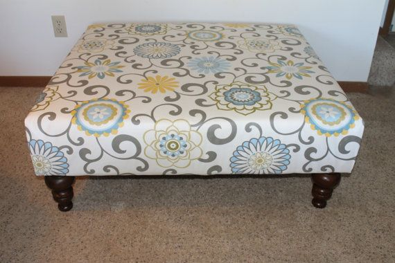 Extra large ottoman with custum fabric 40 square fabric for Storage ottoman fabric covered