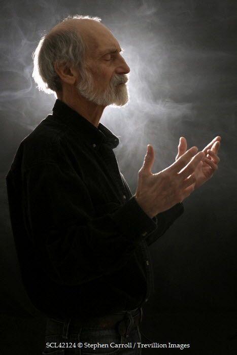 Stephen Carroll SENIOR MAN PRAYING Old People