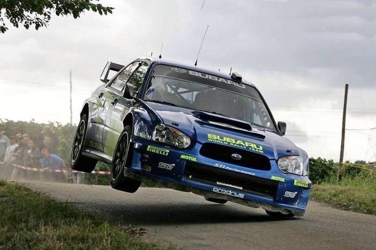 Subaru WRC - one wheel!